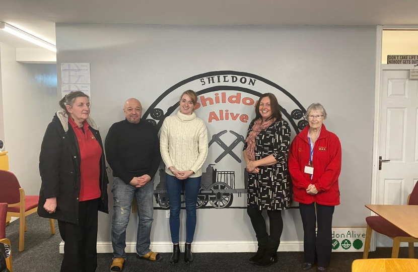 Dehenna meeting with Shildon Alive staff and volunteers